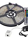 5m 300x3528 smd RGB LED strip ljus och 44key fjärrkontroll och 3a uk strömförsörjning (Växelström 110-240 V)