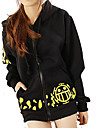 Inspired by One Piece Trafalgar Law Anime Cosplay Costumes Cosplay Hoodies Print Black Long Sleeve Top / More Accessories