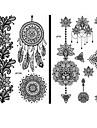 15 Tatouages Autocollants Series de fleur Series de totem Non Toxique Motif Grande Taille Tribal Bas du Dos Impermeable DentelleHomme