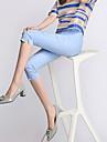 Femei Femei Pantaloni Plus Size / Casual Skinny Poliester / Spandex Strech