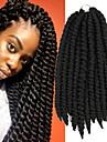 #1B havana twist Flätor Hårförlängningar 14inch Kanekalon 2 Strå 80g gram Hair Braids