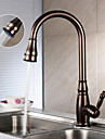 Antik Utdragbar / Pull-down Centerset Roterbara / Utdragbar dusch with  Keramisk Ventil Singel Handtag Ett hål for  Oljeaktig Brons ,