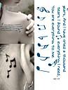 femmes hc1017 epaule sexy tatouage temporaire notes musicales conception de faux tatouage