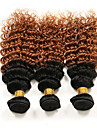 3 Pieces Boucle Tissages de cheveux humains Cheveux Bresiliens Tissages de cheveux humains Boucle