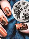 2017 senaste versionen mode mönster nagel konst stämpling bild mall plattor