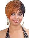 kvinnor lady kort mix färg syntetiska peruker