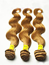 3pcs / lot double drawn bresilienne de cheveux humains 8-34 \'\' trames des extensions # 27 blondes de miel