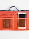 Sminkförvaring Kosmetisk påse Sminkförvaring Enfärgat Kvadrat 28x16.5x10 Grå Brun Silver Röd Orange Tillgänglig Färg Flerfärgad
