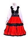 Inspire par Hetalia Hungary Elizaveta Hederváry Anime Costumes de cosplay Costumes Cosplay Mosaique Noir / Rouge Manche LonguesRobe /
