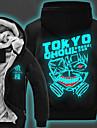 Inspire par Tokyo Ghoul Ken Kaneki Manga Costumes de Cosplay Cosplay a Capuche Imprime Manches Longues Haut Pour Unisexe
