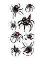 8 Tatouages Autocollants Series animales Autres Non Toxique Motif Halloween Bas du Dos Impermeable 3DHomme Femme Adulte Adolescent