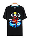 Inspire par Naruto Naruto Uzumaki Manga Costumes de Cosplay Cosplay T-shirt Imprime Noir Manche Courtes Haut Pour Masculin