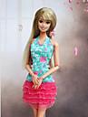 Informel Robes Pour Poupee Barbie Rose / Vert clair Robes Pour Fille de Doll Toy