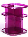 Sminkförvaring Makeup-låda / Sminkförvaring Plastic Enfärgat Kvadrat 20*20*25cm Röd