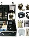 kit de tatouage basekey Machine jhk0132 2 machines avec poignees d\'alimentation de nettoyage des aiguilles d\'encre brosse