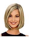 droite bang cote multi-couleur blond beige bob courte perruque de cheveux synthetiques resistant a la chaleur