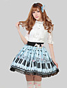 Blue Pretty Lolita Key and Cat Princess Kawaii Skirt Lovely Cosplay