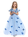Costumes de Cosplay / Costume de Soiree Princesse / Conte de Fee Fete / Celebration Deguisement Halloween Bleu Ciel Imprime Robe / Boucle