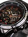 WINNER Bărbați Ceas Schelet Ceas de Mână ceas mecanic Mecanism automat Rezistent la Apă Gravură scobită tachymeter Luminos Oțel inoxidabil
