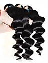 """obearbetade lösa vågiga peruanska hårförlängningar 1b svart människohår väva blandade längder 4st / lot 12 """"-30"""""""