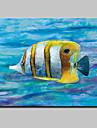 Peint a la main Abstrait / Animal / POPModern Un Panneau Toile Peinture a l\'huile Hang-peint For Decoration d\'interieur