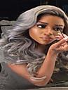 3st / lot obearbetade # 1b / grå hårförlängningar våg boby brasiliansk svart och grå ombre färg jungfru människohår väva