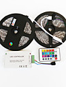 z®zdm 2x5m impermeable 144W 5050 smd rgb lampe led controleur ligne de signal bande de 1bin2 IR24 de fer (DC12V 12a)