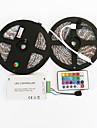 ZDM ™ 2x5m vattentät 144w 5050 SMD RGB LED lampa band 1bin2 signalledningen IR24 järn controller (12V 12a)