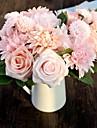 """8.0 Une succursale Soie Plastique Roses Marguerites Fleur de Table Fleurs artificielles 7.48""""X11.8"""""""