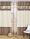 Two Panels European Patchwork Living Room Polyester Panel Curtains Drapes