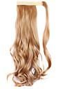 peruk gyllenbrun 45cm syntetisk tråd hög temperatur lockigt hästsvans färg 26