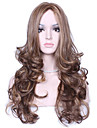 perruque synthetique longue multi-couleur vague populaire naturel pour femme