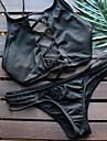 Femei Bikini Femei Cu Susținere Retro / Dantelat Nailon / Spandex
