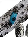 de 1pcs autocollant en aluminium brillant a ongles dentelle sexy crane fleur ongles decorations bricolage beaute stzxk11-15