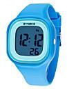 SYNOKE Copii Ceas de Mână Quartz LCD Calendar Cronograf Rezistent la Apă alarmă Luminos Plastic Bandă Negru Alb Albastru
