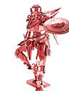 3D-pussel / Metallpussel för Gift Byggklossar Modell- och byggleksak Krigare Metal över 14 Silver Leksaker