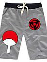Inspire par Naruto Sasuke Uchiha Anime Costumes de cosplay Tops Cosplay / Bas Couleur Pleine Noir / Gris Shorts