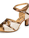 Latin-Pantofi de dans(Argintiu Auriu) -Personalizabili-Damă
