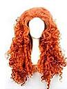 mode tecknad lockigt rött hår