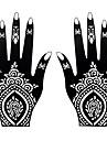 2st falska svart kropp handen konst tillfällig henna airbrushmålning tatuering klistermärke stencil S106