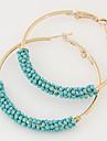 Cercei Rotunzi  La modă Bohemia Stil European Reșină Aliaj Circle Shape Negru Albastru Roz Auriu Curcubeu Bijuterii PentruPetrecere