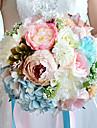 Flori de Nuntă Rotund Trandafiri Crini Bujori Buchete Nuntă Petrecere / Seară Poliester Satin Organza Flori Uscate Ștras