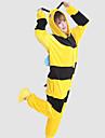 Kigurumi Pyjamas Bi Leotard/Onesie Halloween Animal Sovplagg svart / Gul Lappverk Korallfleece Kigurumi Unisex Halloween