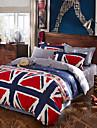 bäst sälja flagga sängkläder satt hög kvalitet sängöverkast unik design lakan mode drapera de upplysta sängkläder 4st drottning