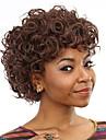 resistantes courtes perruques bon marche faux perruque de cheveux boucles bruns synthetiques de chaleur