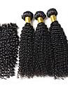 Trame cheveux avec fermeture Cheveux Bresiliens Tres Frise tissages de cheveux
