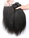 7a grade jungfru hår brasilianska kinky raka grov Yaki 5 st / lot människohår väver kinky raka