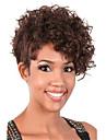 courte perruque brune bouclee pour les femmes coupe fort synthetique perruque naturelle