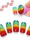 fichier ongles plaque d\'image art de timbre de estampage outil ongles 5pcs de clous (couleurs assorties)
