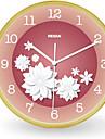 Rond Moderne/Contemporain Horloge murale,Autres Bois 21*21*5